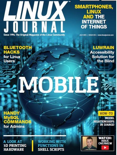 Обложка журнала Linux Journal, на которой видна надпись LUWRAIN